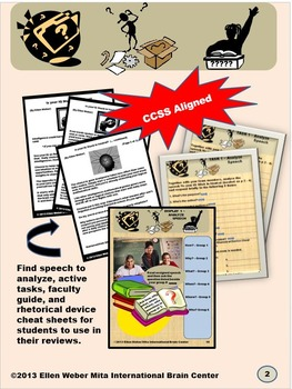 Analyze Speech for Author Purpose and Effectiveness - CCSS Aligned