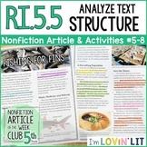 Analyze Text Structure RI.5.5 | Fishing for Fins (Shark Fi