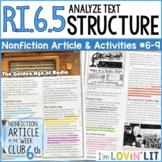 Analyze Text Structure RI.6.5 | The Golden Age of Radio Article #6-9
