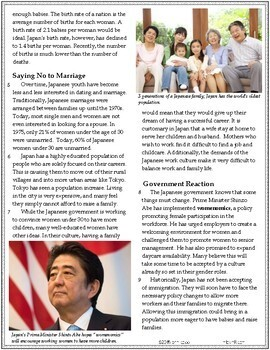 Analyze Text Structure RI.6.5 | Underpopulation in Japan Article #6-8