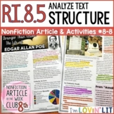 Analyze Text Structure RI.8.5 | Edgar Allan Poe BIOGRAPHY Article #8-8