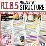 Analyze Text Structure RI.8.5 | Edgar Allan Poe BIOGRAPHY Article #8-8