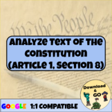 Constitution Article 1 Worksheets & Teaching Resources | TpT
