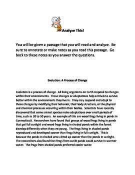 Analyze This! Evolution 1