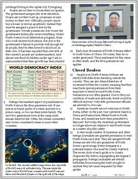 Analyze Text Structure RI.7.5 | Life in North Korea Today Article #7-8