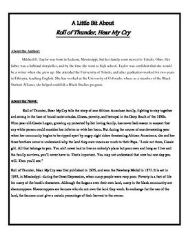 Analyze Your New Novel (Roll of Thunder)