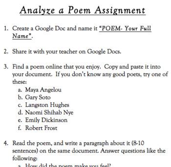 Analyze a poem