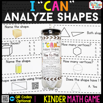 Kindergarten Math Game for Analyzing and Comparing Shapes