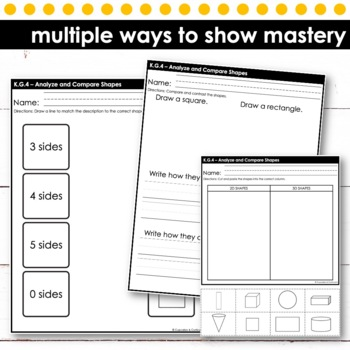 Analyze and Compare Shapes | Kindergarten Math
