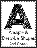 """Analyze and Describe Shapes"" Guided Math I Can Cards"