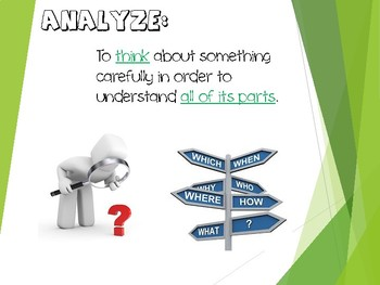 Analyze and Evaluate for Comprehension