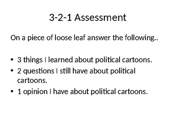 Analyze and Interpret Political Cartoons Power Point w/ All Materials