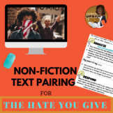Analyze and Respond Activity for The Hate You Give (THUG) novel