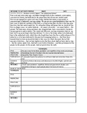 Analyze author's choices and infer purpose: Graphic Organizer Guided Analysis