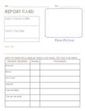 Analyze characters report card common core language arts f