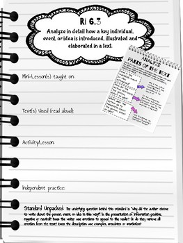 Analyze how events/ideas are analyzed - Informational Reading Toolkit - RI.6.3