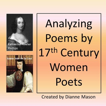 Analyzing Poems By 60th Century Women Poets By Dianne Mason TpT Custom Katherine Philips Romantic Quotes