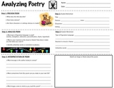 Analyzing A Poem - Worksheet