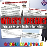 Analyzing Adolf Hitler's Speeches Worksheet