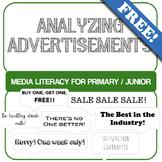 Analyzing Advertisements - Media Literacy Primary/Junior