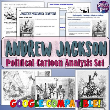 Analyzing Andrew Jackson in Political Cartoons Worksheets