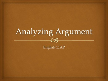 Analyzing Argument