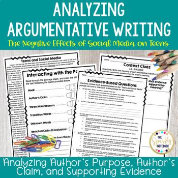 Analyzing Argumentative Writing - Test Prep Packet