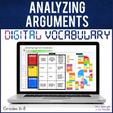 Analyzing Arguments DIGITAL Vocabulary | Distance Learning