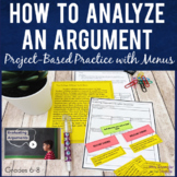 Analyzing Arguments:  Project Based Learning with Menus, T