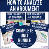 Analyzing Arguments in Text - Complete Unit!