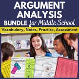 Argumentative Text Analysis Complete Unit   Printable BUNDLE