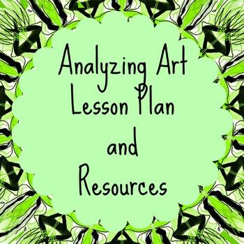 Analyzing Art Lesson Plan