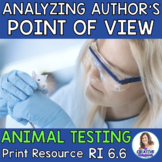 Analyzing Author's Point of View in a Non-Fiction Text: Animal Testing