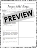 Analyzing Author's Purpose *Printable AND Digital Online*