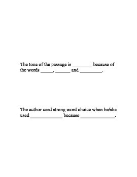 Analyzing Author's Word Choice and Its Impact on Meaning and Tone Worksheets