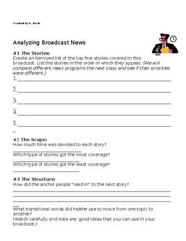Analyzing Broadcast News