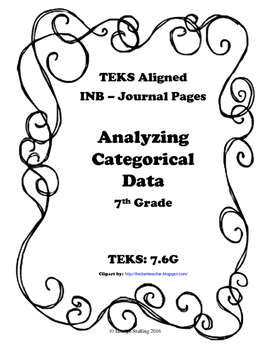 Analyzing Categorical Data INB TEKS 7.6G