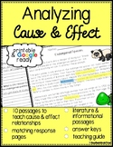 Cause and Effect Reading Passages & Questions - Printable