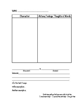 Analyzing Character Graphic Organizer {FREEBIE}