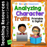 Analyzing Character Traits - Printable & Digital Resources for Remote Learning