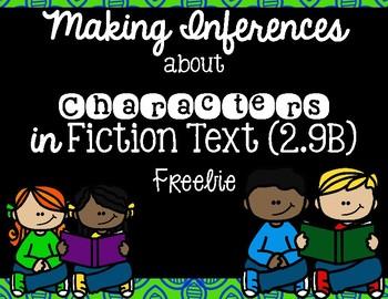 Analyzing Character Traits- FREEBIE!! TEKS 2,9B