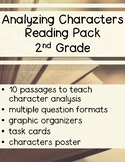 Analyzing Character Traits Reading Comprehension Pack - 2nd Grade