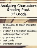Analyzing Character Traits Reading Comprehension Pack - 3rd Grade