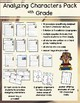 Analyzing Character Traits Reading Comprehension Pack - 4th Grade