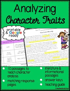 Analyzing Character Traits Skill Passages
