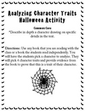 Analyzing Character traits- Halloween/Common Core