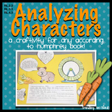 Analyzing Characters: A Craftivity for any According to Humphrey Book!