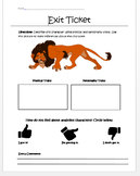 Analyzing Characters Exit Ticket