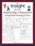 Analyzing Characters Independent Reading Project Grades 4-6