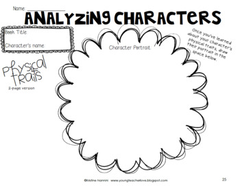 Character Traits and Conflict - Graphic Organizers - Task Cards